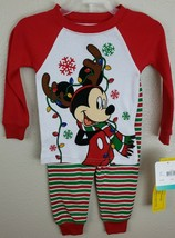 Colorful DISNEY Baby 2 pc set size 18 months NWT Christmas PJ's, Mickey ... - $12.60