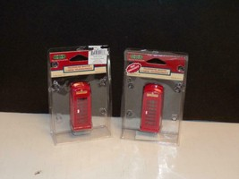 LEMAX FIGURES-TWO (2) TELEPHONE BOOTHS-MINT-#4 - $4.41