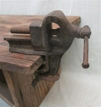 1 7/8 Jaw Miniature Bench Tabletop Vise Jeweler Blacksmith Anvil Vintage... - $59.00