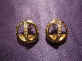 Joan Rivers Gold Tone W/ Rhinestones Stud Earring  - $34.65