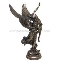 12.25 Inch Winged Fame and Angel Mythological Statue Figurine - $62.37