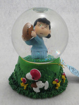 Hallmark Peanuts Gang Lucy Snoopy Woodstock Playing Football Musical Sno... - $15.10