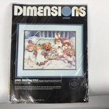 Dimensions Crewel Embroidery Kit Bears Bunnies Dolls Nursury Dawna Barton - $19.39