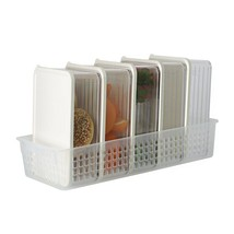 Silicook Refrigerator Food Storage Containers with Tray Kitchen Organizer Set