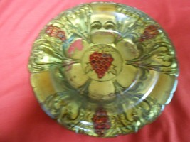 Magnificent .Antique GOOFUS GLASS  Dish with Metal Wall Hanger.. 1920's.... - $10.40