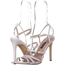 Nine West Gilficco Strappy Sandals 149, White Leather, 8 US - $17.27