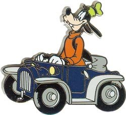Disney Goofy in a Car never sold to pulbic pin.pins
