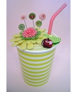Cherry Limeade pincushion kit (lime) handmade JABC Just Another Button Co - $37.80