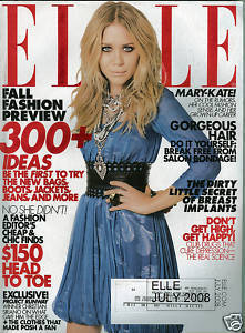ELLE JULY 2008 MARY-KATE OLSEN; MATTHEW GOODE
