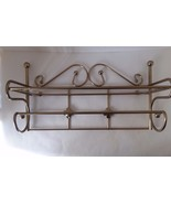 Decorative Shelf Wall Hanging Gold Tone - $16.21