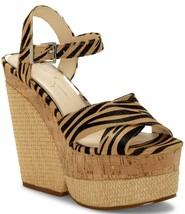 Jessica Simpson Jirie2 Zebra Print & Cork Platform Sandals, Multi Sizes Natural - $99.95