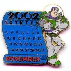 DISNEY Buzz Lightyear Magic Calendar November pin/pins