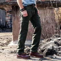 2018 100% Cotton Multi-Pockets Casual Tactical Men Military Cargo Pants Spring A - $56.10