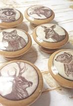 "Handmade 1.5"" Wildlife Animal Knobs, Set of 6 Cabinet Animal Drawer Pulls - $35.64"