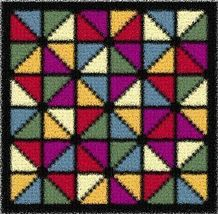 Latch Hook Rug Pattern Chart: Abstract2 Pillowtop - EMAIL2u - $5.50