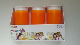 Munchkin 360 Cup Spill-proof 12+ Months NIB 3 ORANGE BRAND NEW - $22.04