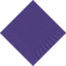 50 Plain Solid Colors Luncheon Dinner Napkins Paper - Purple - $3.65