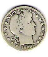 Nice V.G 1909P Barber Half - $19.00