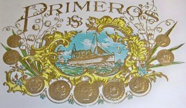 Embossed Primeros Inner Cigar Label, 1920's - $5.89