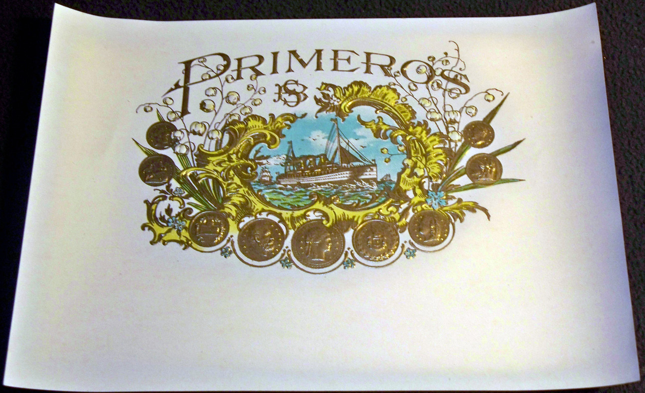 Embossed Primeros Inner Cigar Label, 1920's