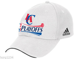 Los Angeles Clippers Adidas NBA Basketball Playoff White Adjustable Cap Hat - $17.09
