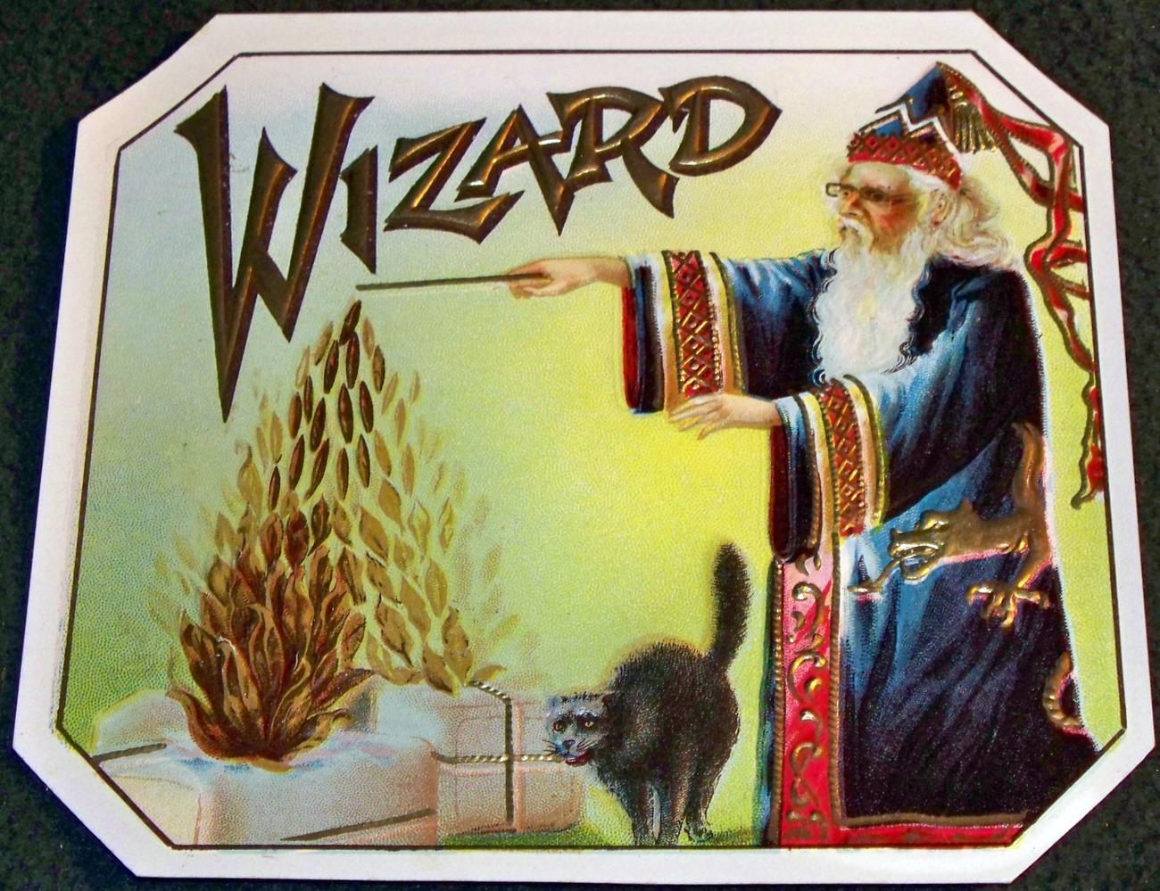 Wizard small label 001