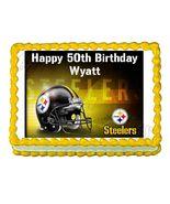 Pittsburgh Steelers Football Edible Cake Image Cake Topper - $8.98+