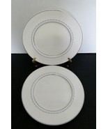 Royal Doulton Bone China Tiara Pattern Two Dinner Plates H4915  Blue Gray Vine  - $19.68
