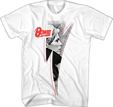 David Bowie-Lightning Low Profile-X-Large White Lightweight  T-shirt - $17.41