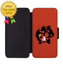 Charizard Charmander Pokemon Leather Wallet Phone Case iPhone 5 6 7 8 X + - $24.90