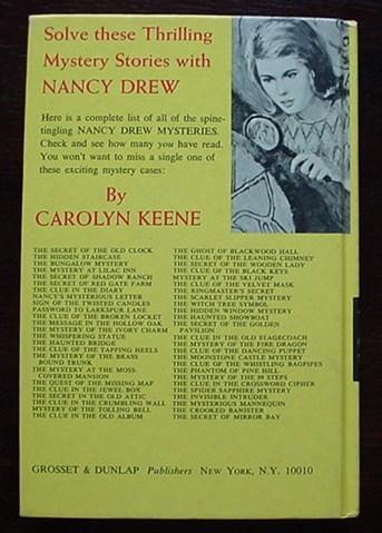 Nancy Drew SECRET OF MIRROR BAY 1st PRINT Picture Cover