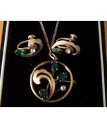 Vintage Van Dell Necklace and Earrings 14K GF - $24.99