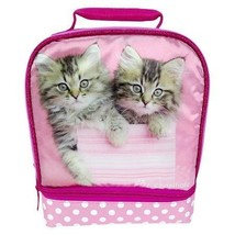Racheal Hale Pink Kittens Duel Compartment Lunch Bag Box - $24.95