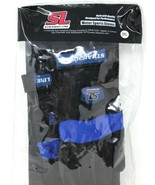 Straight Line Water Sports Membrane Gloves Small Black Blue New - £23.66 GBP