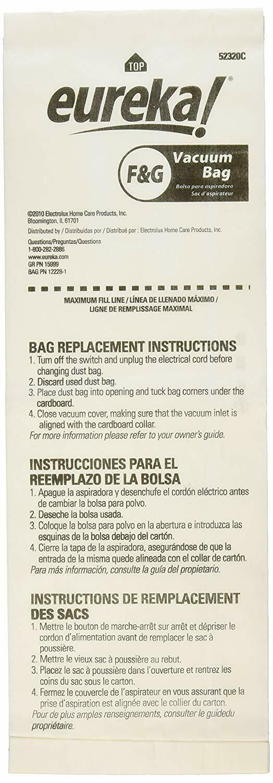 Genuine Eureka Sanitaire FG Cleaner Bags 54924B-10 OEM 4000 5000 3 Loose Bags - $8.87