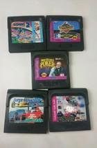 Lot Bundle 5 Sega Game Gear NFL Club Super GP Poker Baseball Sonic 2 Cart Only - $19.75