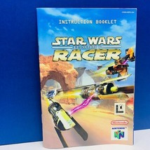 Nintendo 64 video game instruction booklet only Star Wars Episode I one 1 Racer  - $8.86