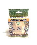 Alphabet Wooden Blocks (9 Count) Used A-2 - $5.99