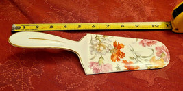 BEAUTIFUL VINTAGE GERMAN PORCELAIN  FLOWERS CAKE PIE SERVER MADE IN GERMANY image 1