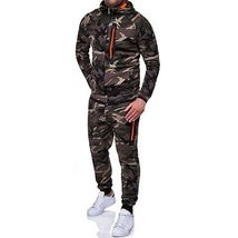 Mens Tracksuit Camouflage Hoodie Casual Joggery Trousers Sport Long Pants - $59.76