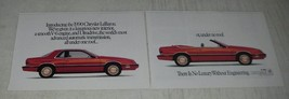 1990 Chrysler LeBaron Ad - We've given it a luxurious new interior - $14.99