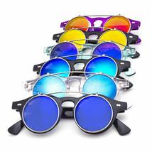 Django Round Flip Up Mirror Color Lens Round Shape Circle Sunglasses Ste... - $7.99