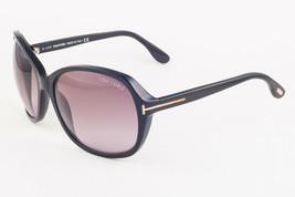 Tom Ford SHEILA 186 01B Shiny Black / Gray Gradient Sunglasses TF186 01B... - $185.22