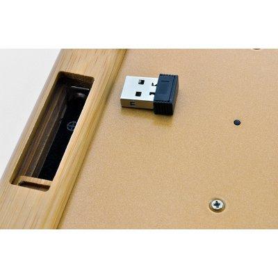 Handcrafted Wireless Bamboo Keyboard