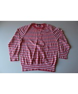 W13242 Womens J. CREW Pink/Light Pink Striped Cotton Lightweight SWEATER... - $30.89