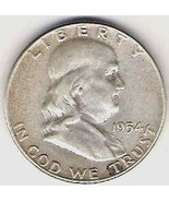 Nice 1954P Franklin Half #3 - $20.00