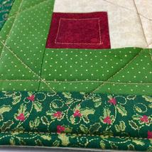 Christmas Pot Holder Quilted Handmade Holiday Log Cabin Block Heat Resistant image 4