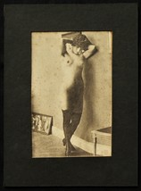 1910s image Vintage Sexy Chubby Beauty Risque print, Estate Nude Stockin... - $9.89