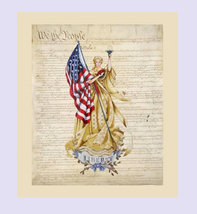 Fabric - Constitution USA 30 count Linen by The Primitive Hare (We the P... - $43.00