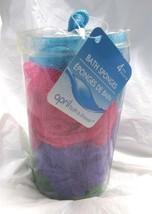 April Bath & Shower Bath Sponges 1 Tub of 4 Bath Sponges Assorted Colrs - $5.49